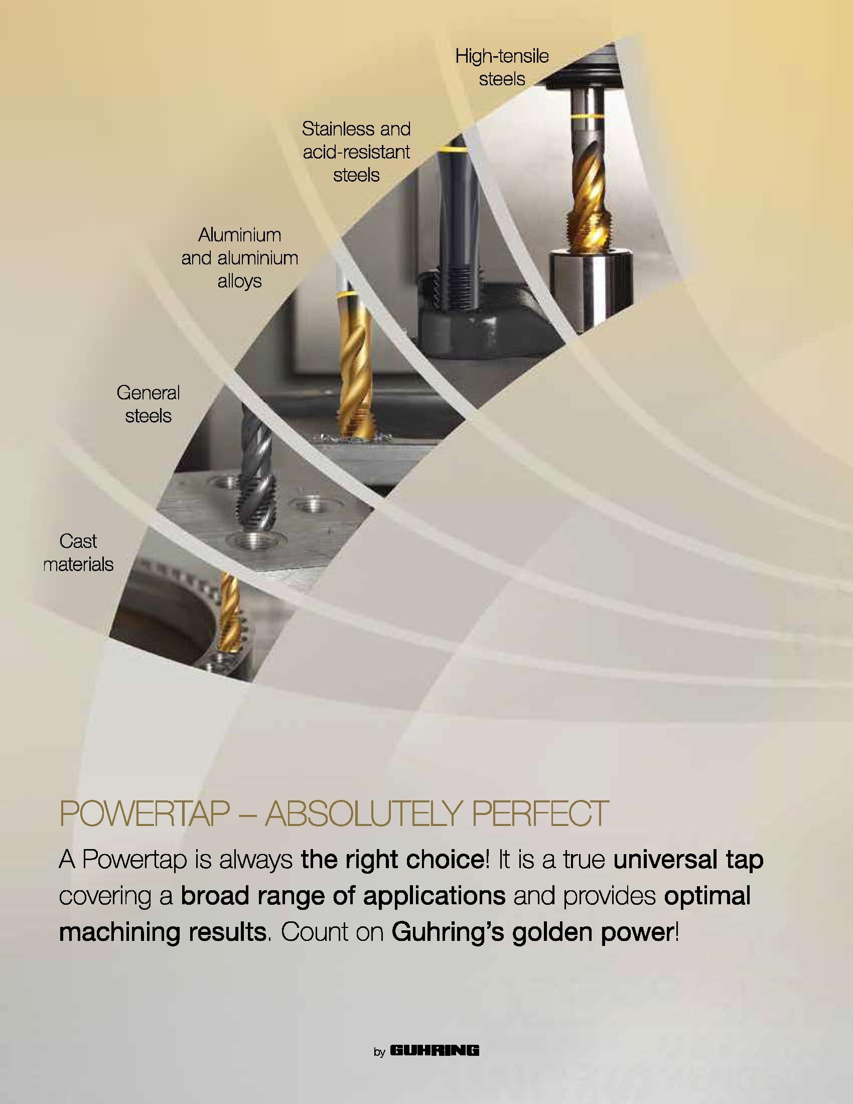Cobalt HSS-E 10-24 Spiral Flute tap TiCN Guhring Powertap