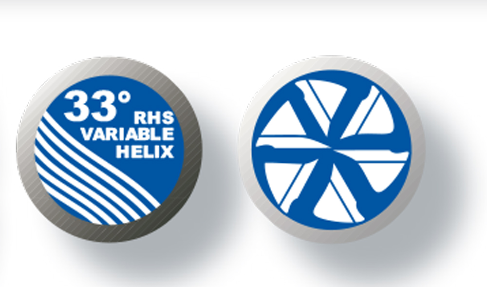 "5 Flute SE HP Carbide End Mill Variable Helix Reg ALTiN 1//8/""DIA"