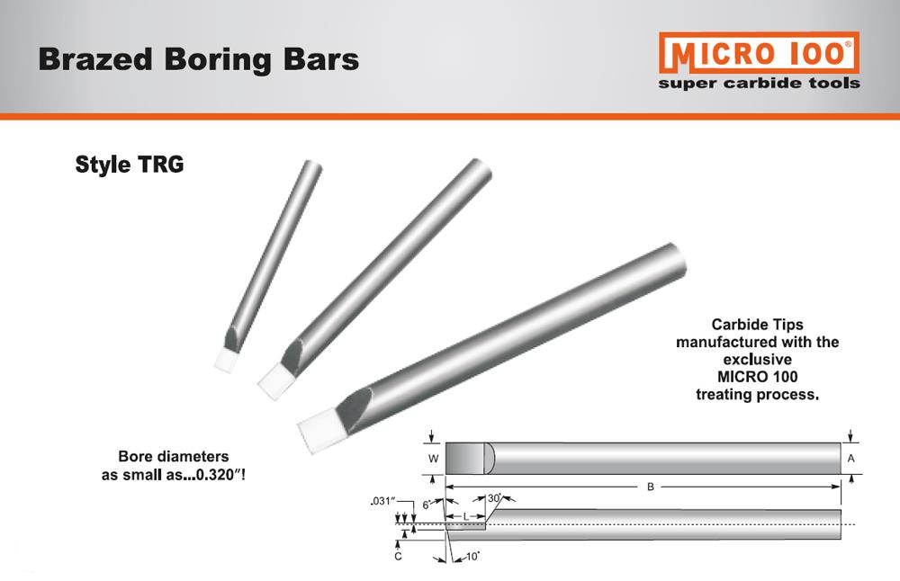 Micro Carbide Indexable Boring Bars : Quot shank long boring bar with brazed carbide tip