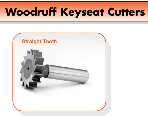 """1//2/"""" Diameter 1//8/"""" Wide Cobalt KeySeat Cutter 404C Moon Cutter #CKY425 USA"""