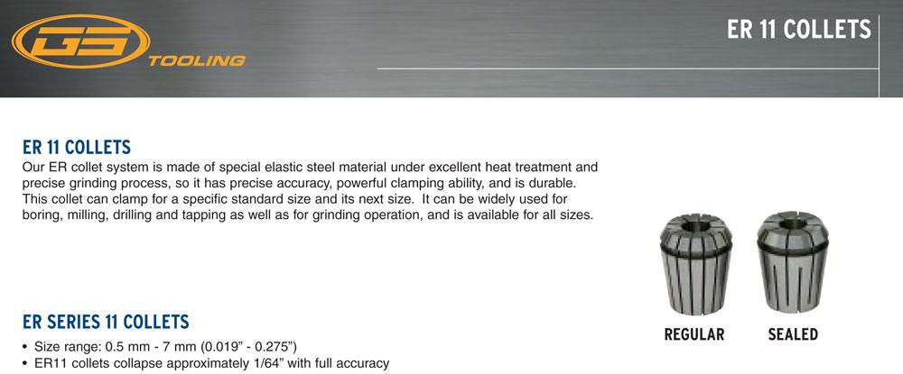 ER11 13pc Collet Set .019 .271 Range In Plastic Case Sowa Part #337-379