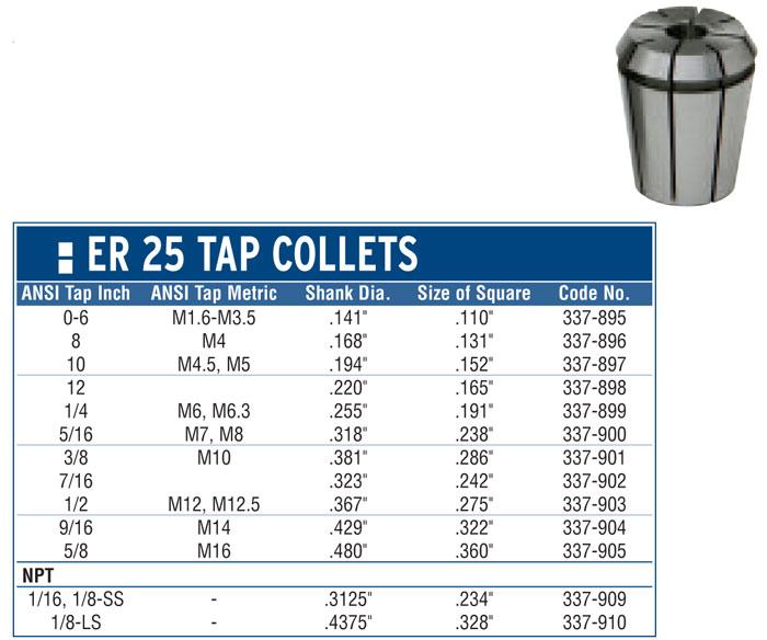 #8 /& M4 Tap ER20 Rigid Tap Collet Sowa #337-870