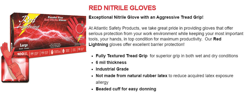 Red Lightning Gloves