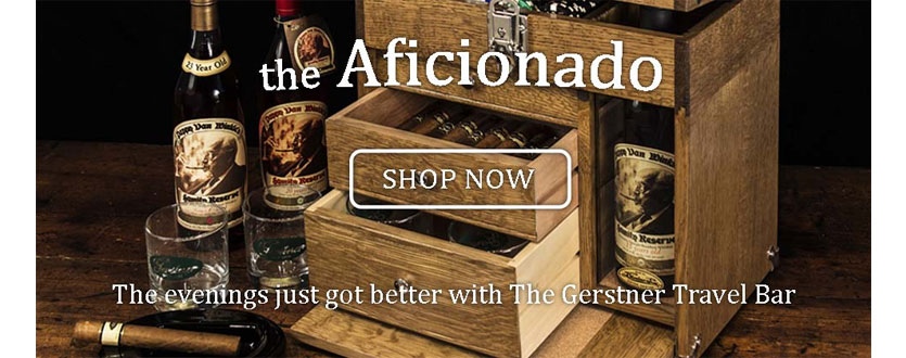 Gerstner USA The Aficionado Wood Travel Bar