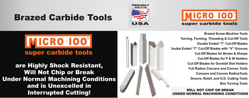 Micro-100 Brazed Tooling