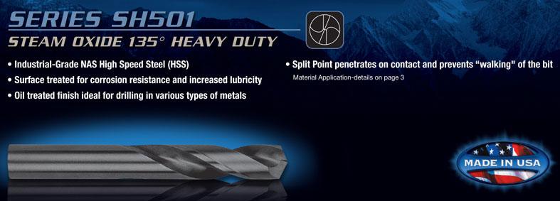 "Jobber Length Cobalt Drill Bit 135° Split Point USA RMT 95004645 #46 .0810/"" Dia"