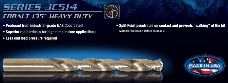 "Jobber Length Cobalt Drill Bit 135° Split Point USA RMT 95004626 #27 .1440/"" Dia"