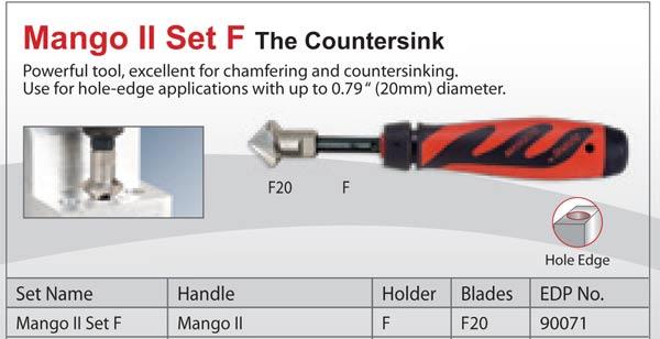Mango II Set FR The Countersink F20 Countersink Ratchet-Burr Shaviv Part #90072