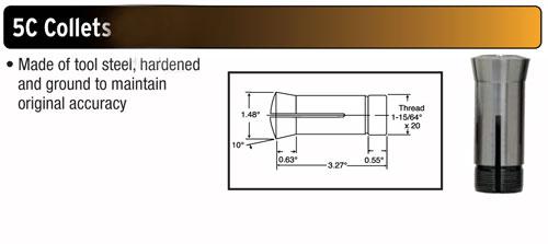 "5//16/"" Inside Diameter 5C Precision Round Collet Hardened /& Ground Sowa #325-332"