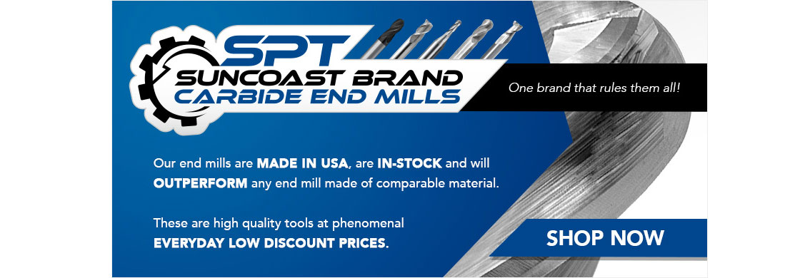 Suncoast Brand Carbide End Mills Manufacturers in USA