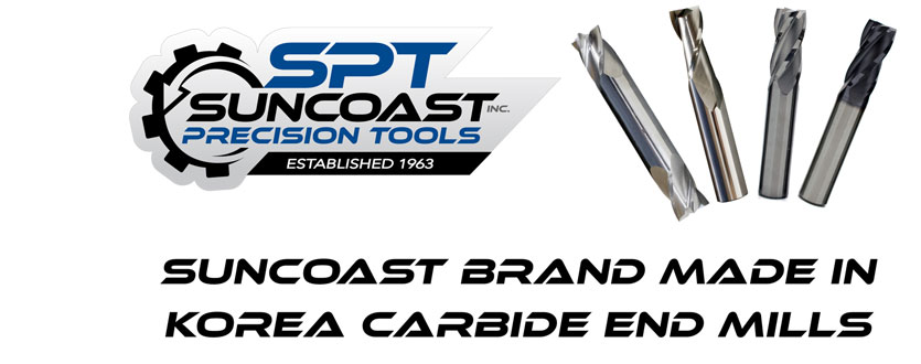 Suncoast Brand Made in Korea Carbide End Mills