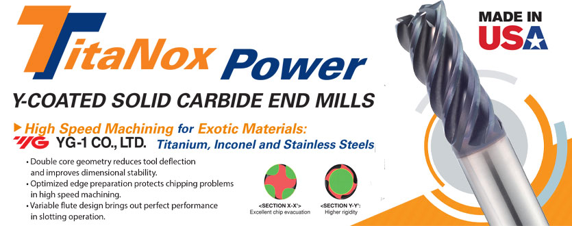 Titanox Power High Performance Carbide End Mills