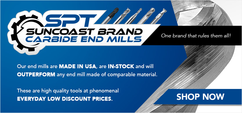Suncoast Brand Carbide End Mills